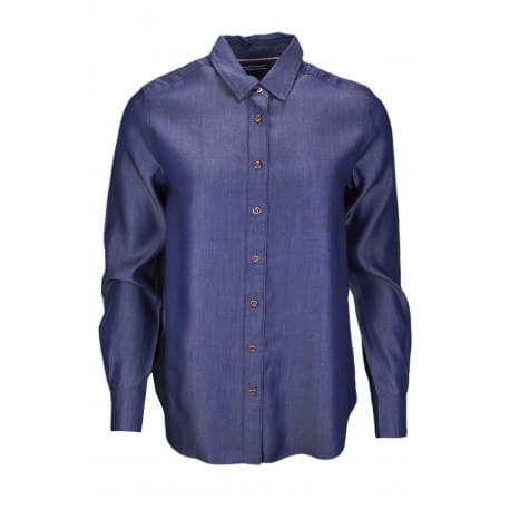 Chemise dénim Tommy Hilfiger Lily bleu jean pour femme
