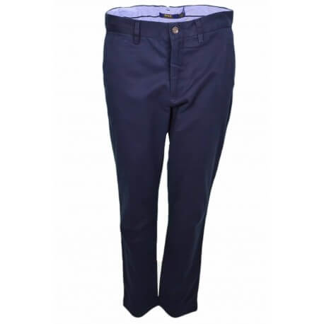 Pantalon chino Ralph Lauren bleu marine pour femme