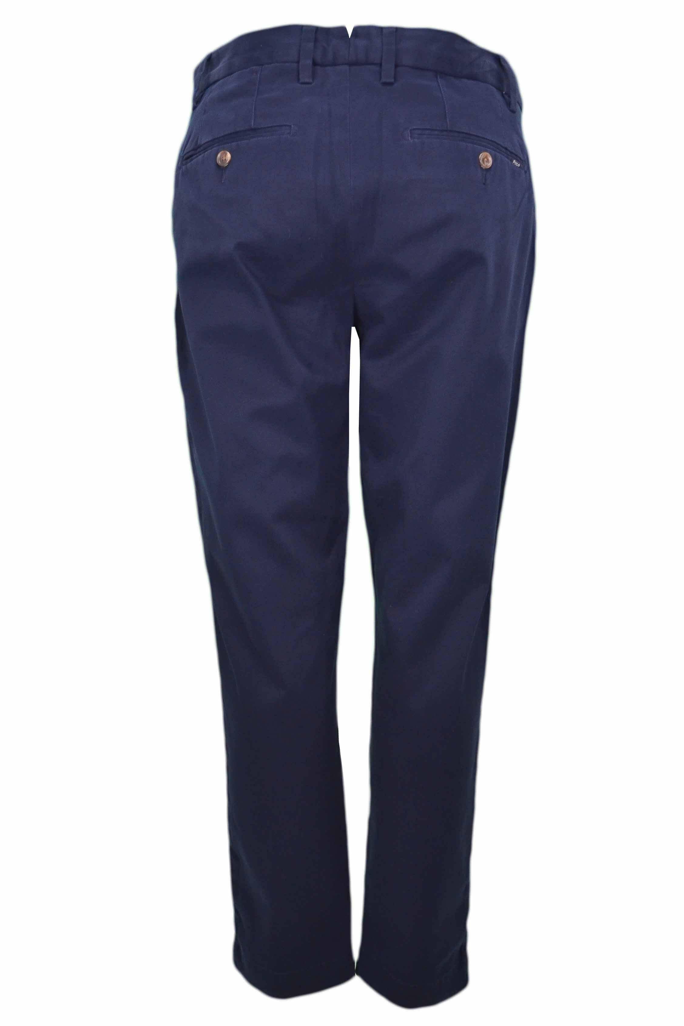 d48a3efbb Pantalon chino Ralph Lauren bleu marine pour femme - Toujours au me...