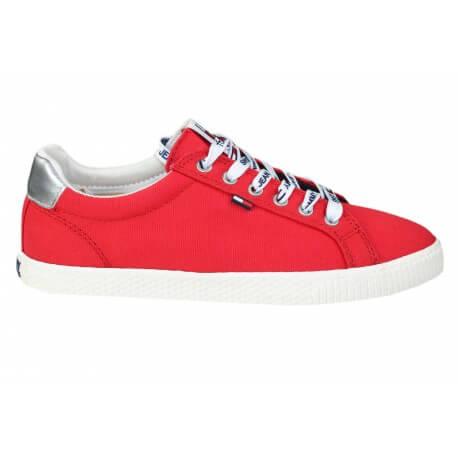 Baskets Tommy Jeans rouge pour femme