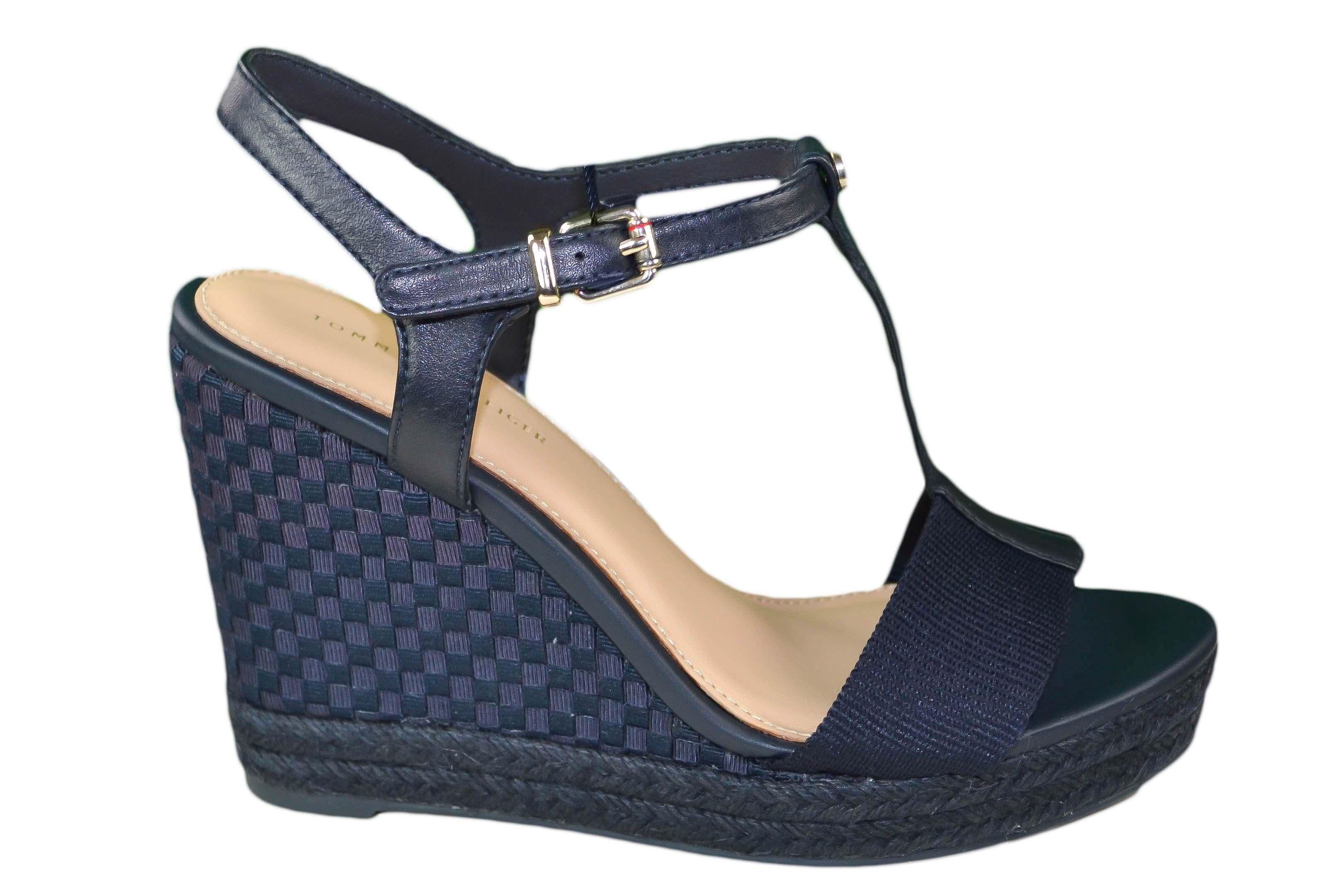 98c73c53e98fdd Chaussures compensées Tommy Hilfiger Elena Pop bleu marine pour fem...