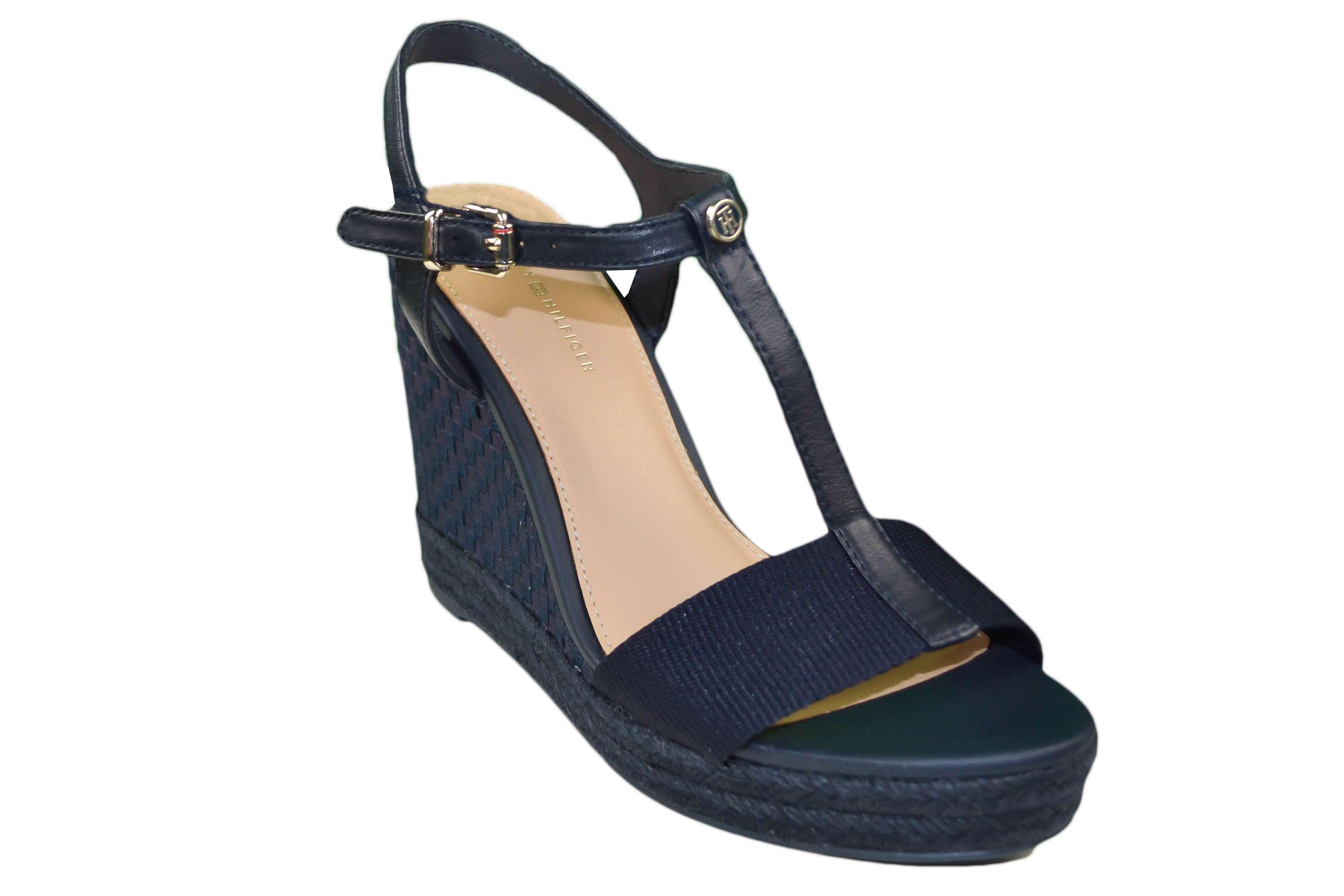 e0c81811287 Chaussures compensées Tommy Hilfiger Elena Pop bleu marine pour fem...