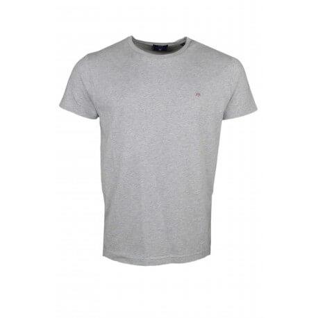 T-shirt col rond Gant gris pour homme