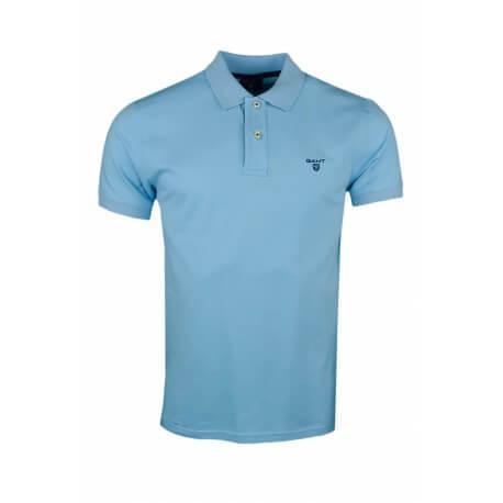 Polo Gant basique bleu turquoise pour homme