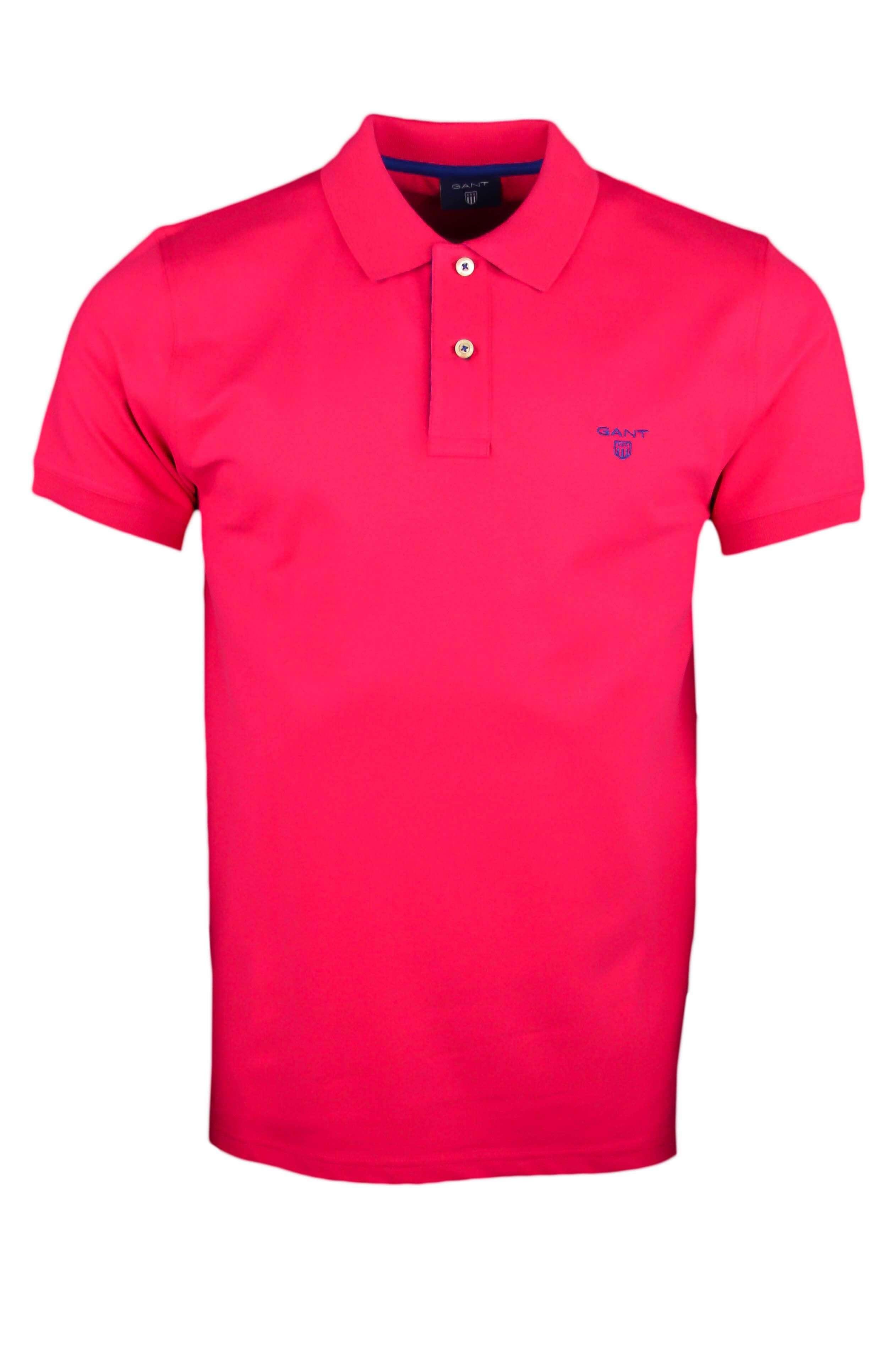 e10a924f7690 Polo Gant basique rose fushia pour homme - Toujours au meilleur prix !