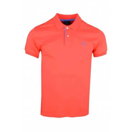 Polo basique Gant orange fluo pour homme