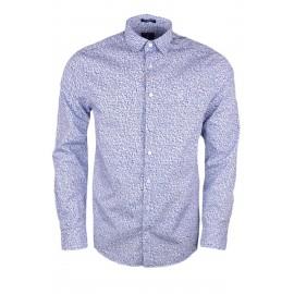 Chemise Gant imprimé fleuri bleu pour homme