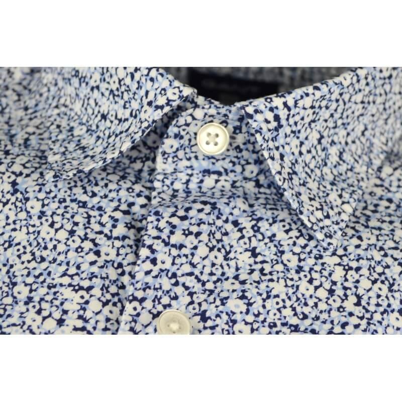Chemise Gant Imprime Fleuri Bleu Pour Homme Toujours Au Meilleur