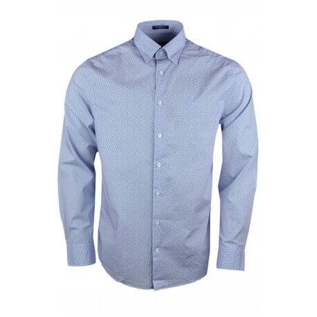 Chemise Gant bleu à motif pour homme