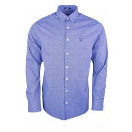 Chemise Gant bleu marine à motifs pour homme