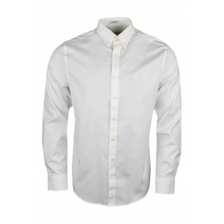 Chemise Gant basique blanche pour homme