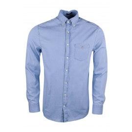 Chemise Gant en jean fin indigo pour homme