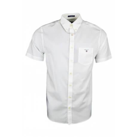 Chemise manches courtes Gant basique blanche pour homme