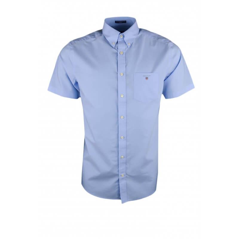 chemise manches courtes gant bleu ciel pour homme toujours au mei. Black Bedroom Furniture Sets. Home Design Ideas