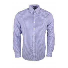 Chemise Gant rayée bleu et blanche pour homme