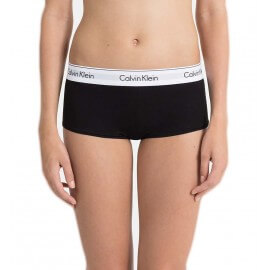 Shorty Calvin Klein noir bandeau blanc pour femme