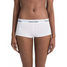 Shorty Calvin Klein blanc inscription noire pour femme