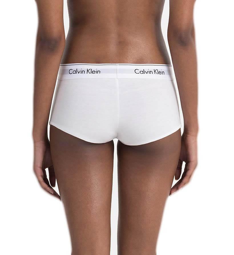 Shorty Calvin Klein blanc inscription noire