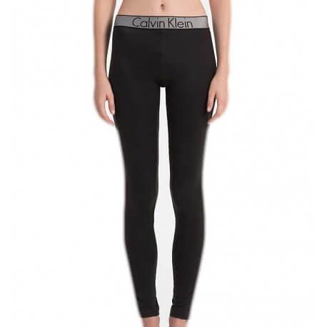 Legging Calvin Klein noir bandeau et côté dentelle en nylon pour femme
