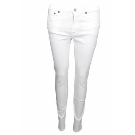 Jean Ralph Lauren Tompkins Skinny blanc pour femme