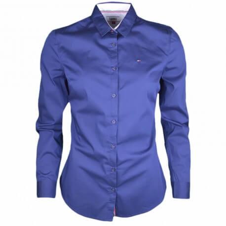 Chemise basique Tommy Jeans légère bleu marine pour femme