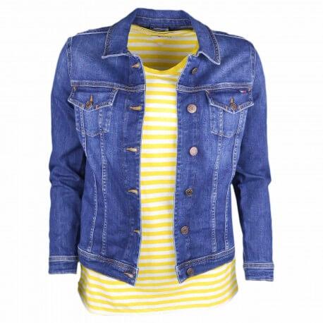 Veste en jean Tommy Jeans bleu foncé pour femme