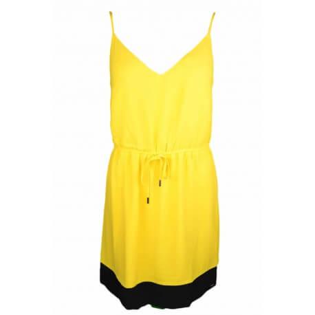 Robe Tommy Jeans jaune pour femme