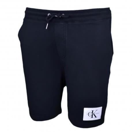 Short molleton Calvin Klein noir pour homme