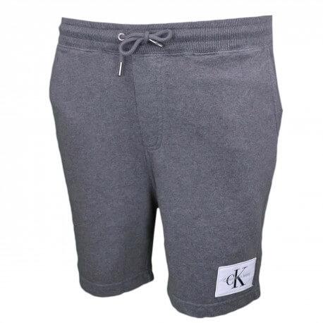 Short molleton Calvin Klein gris pour homme