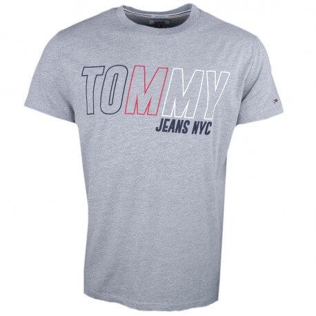 T-shirt col rond Tommy Jeans gris pour homme