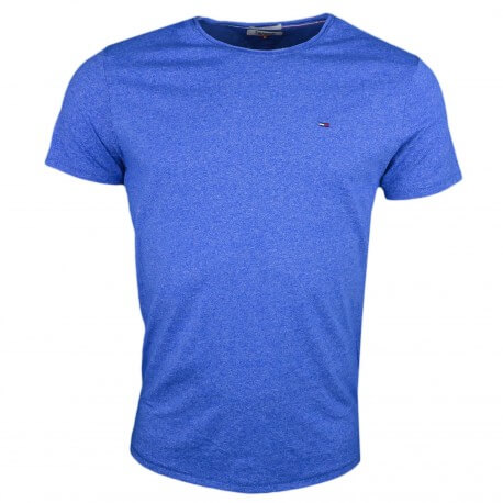 T-shirt col rond Tommy Jeans bleu moucheté pour homme