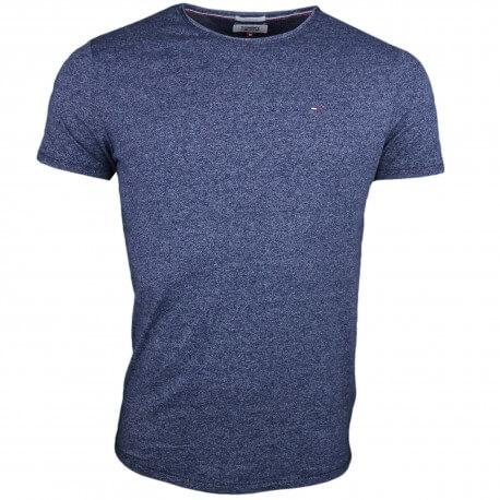 T-shirt col rond Tommy Jeans bleu marine moucheté pour homme