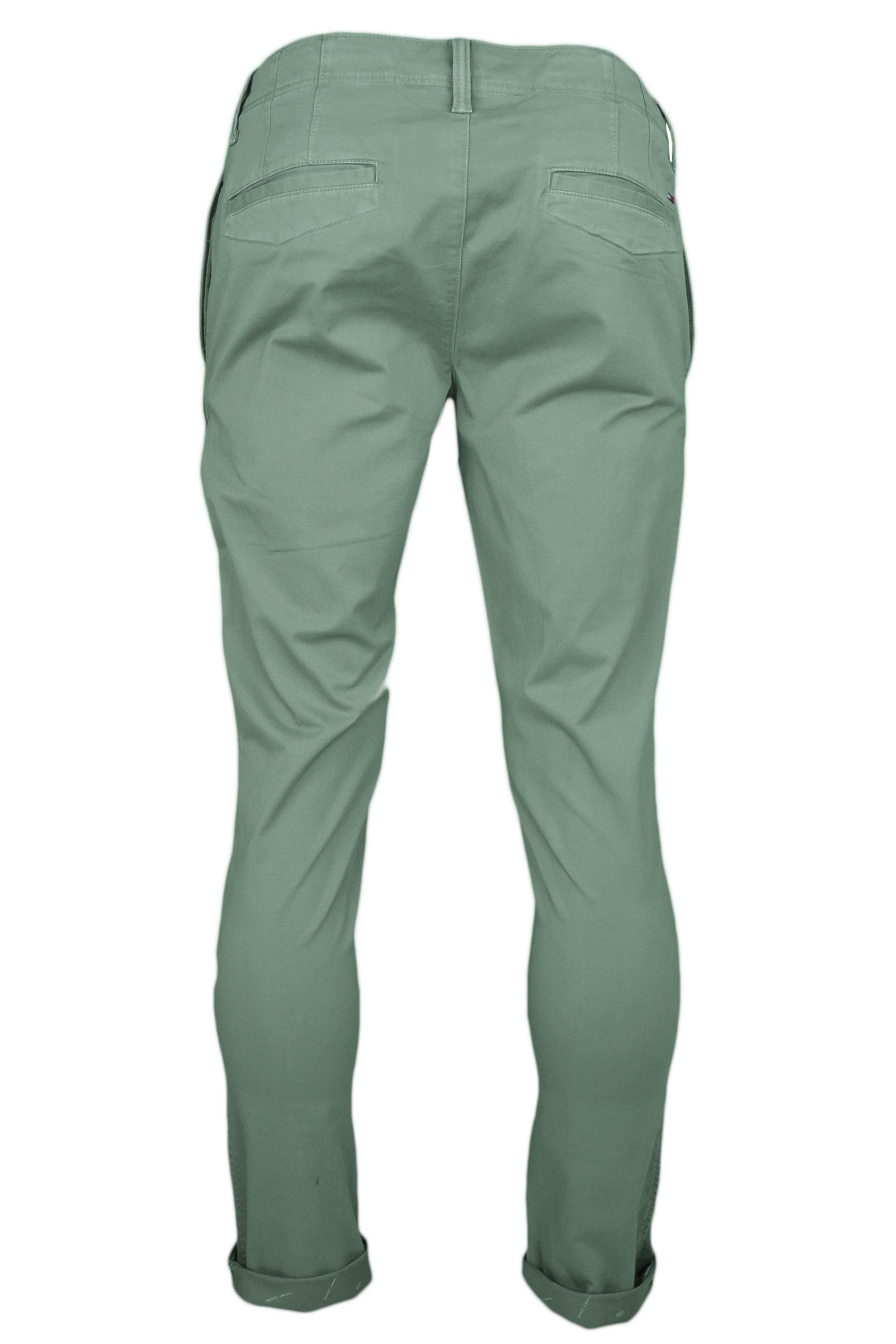 cc0807491 Pantalon chino Tommy Jeans vert kaki slim fit pour homme - Toujours...