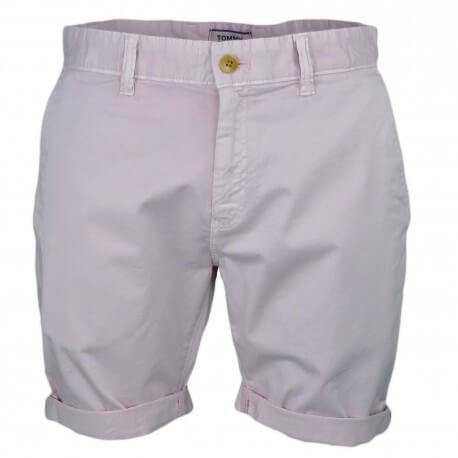 Short Tommy Jeans rose pâle pour homme