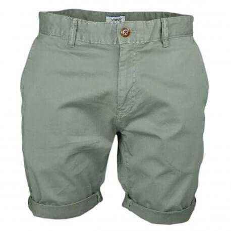 Short Tommy Jeans vert kaki pour homme