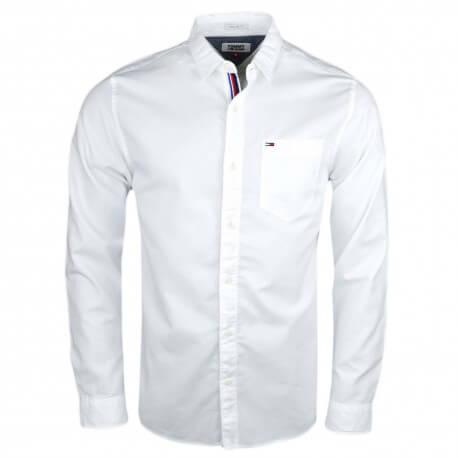 Chemise Tommy Jeans basique blanche régular pour homme