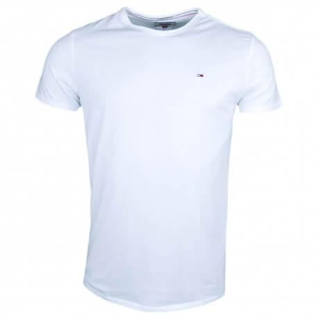 T-shirt col rond Tommy Jeans blanc pour homme