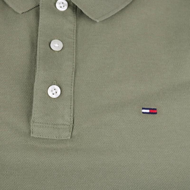 Polo Slim Homme Vert Meille Fit Jeans Tommy Au Kaki Toujours Pour Rj45Aq3L