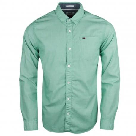 Chemise Tommy Hilfiger basique verte régular pour homme