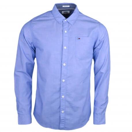 Chemise Tommy Jeans basique bleu ciel régular pour homme