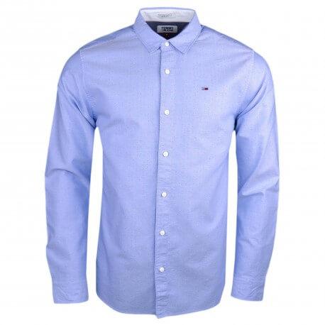 Chemise Tommy Jeans bleu ciel à motifs régular pour homme