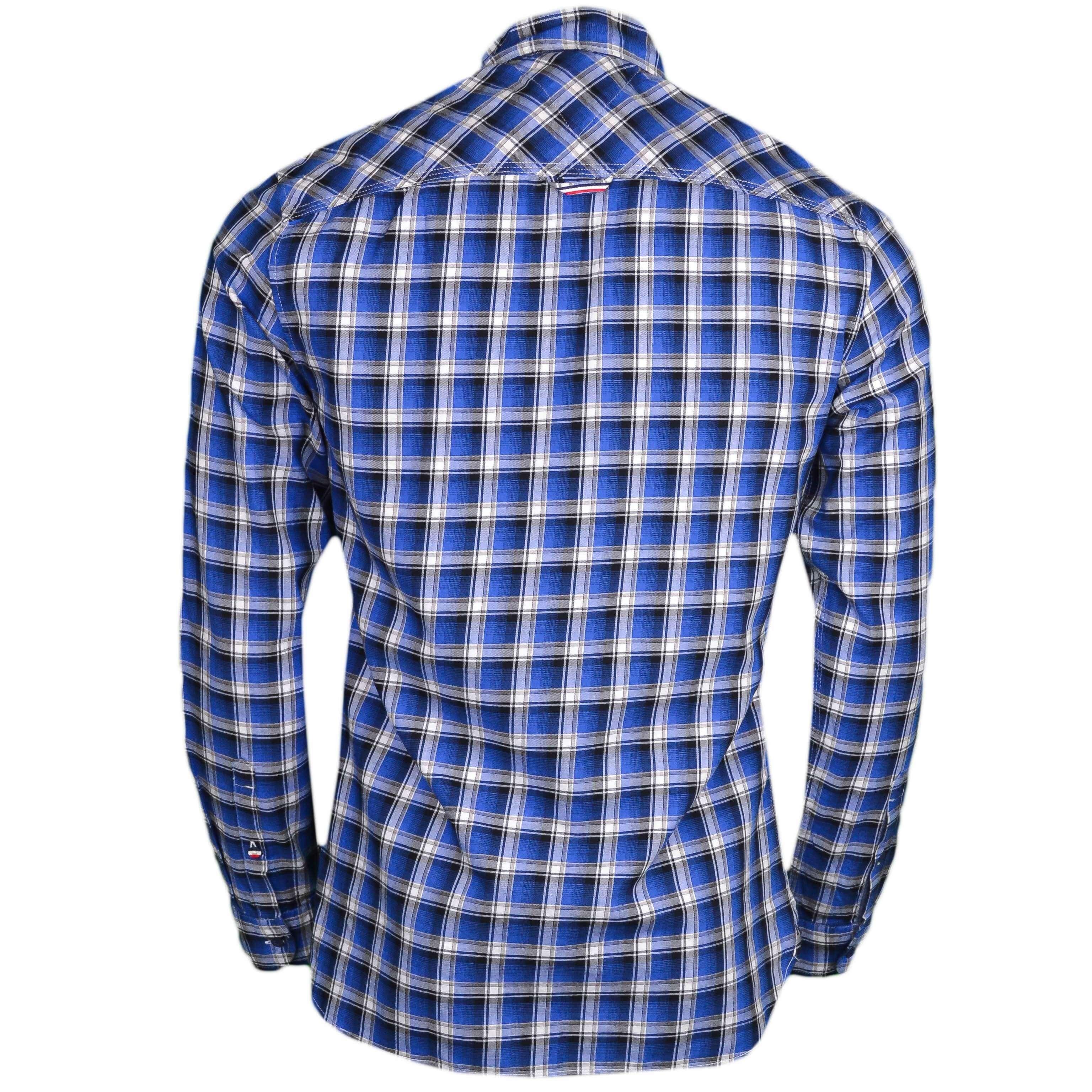 très convoité gamme de rétro vente chaude en ligne Chemise Tommy Jeans à carreaux bleu slim fit pour homme - Toujours ...