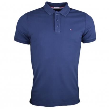 Polo Tommy Jeans basique bleu marine pour homme