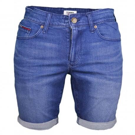 Short en jean Tommy Jeans bleu slim pour homme