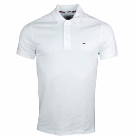Polo Tommy Jeans basique blanc slim fit pour homme