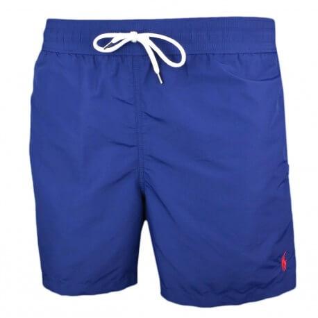 Short de bain Ralph Lauren Traveler bleu marine logo rouge pour homme