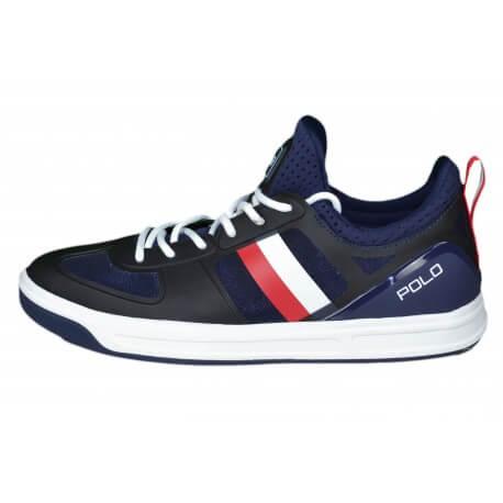 Baskets Ralph Lauren Court 200 bleu marine et rouge pour homme