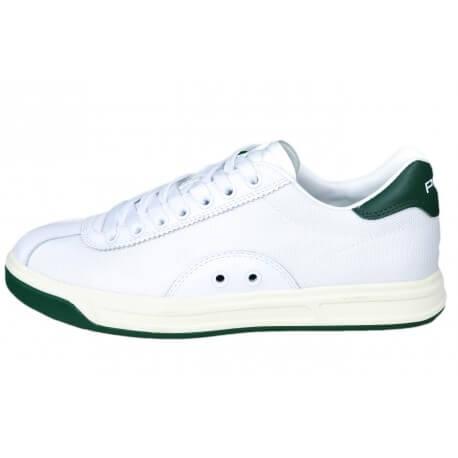 Baskets Ralph Lauren blanche et verte pour homme