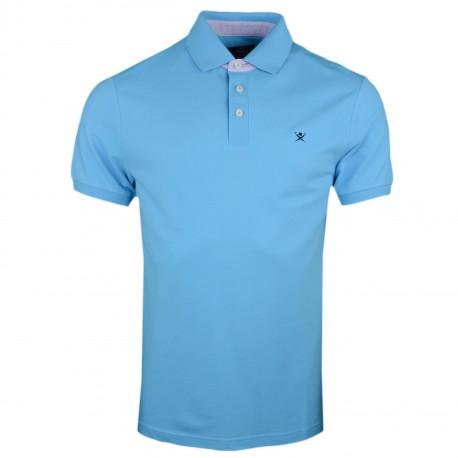 Polo piqué Hackett bleu turquoise régular pour homme