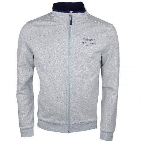 Veste sweat zippée Hackett grise Aston Martin pour homme